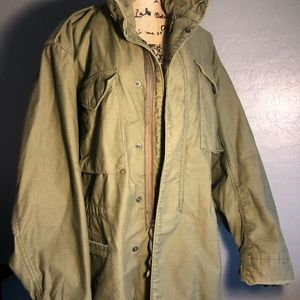 Vintage Army Men's cold weather Coat field US Made